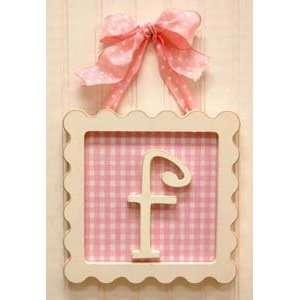 Framed Wooden Letter   f