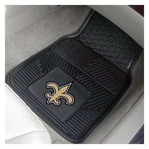Orleans Saints 2 Piece Heavy Duty Vinyl Floor Car Mat Set with Logo