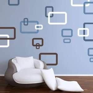 Rectangles Removable Vinyl Home Wall Art Sticker Decal