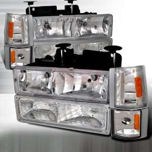 Chevrolet/ Chevy Gmc Pick Up   8 Pc Head Lights/ Lamps & Corner Lights