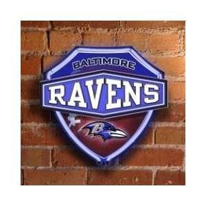 BALTIMORE RAVENS Team Logo Dual Lit NEON SHIELD WALL or