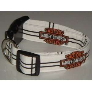 Harley Davidson Motor Cycles Checker X Large 1 Dog Collar