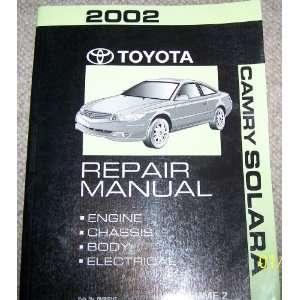 2002 Toyota Camry Solara Repair Manual (Volume 2) Toyota