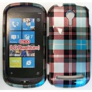 LG QUANTUM C900 BLUE / GREEN / RED PLAID CASE Cell Phones