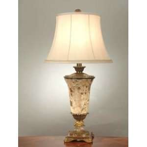 Dale Tiffany Brown Marble Table Lamp with Gold Finish
