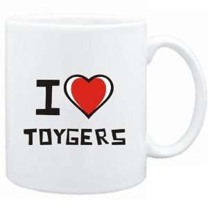 Mug White I love Toygers  Cats
