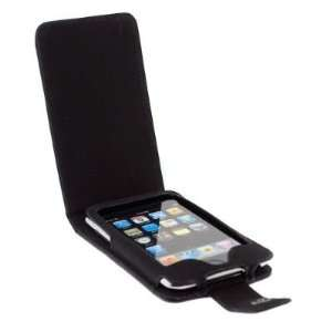 com Durable Leather Flip Top Open Carrying Case for Apple Iphone 3Gs