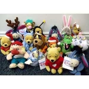 Bag Dolls Including Extinct Dinosaur Eeyore, Peter Pan Nana, Robin