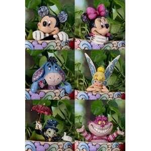 Jim Shore Disney 6 Cachepot Character, Mickey, Tink, Jiminy Cricket