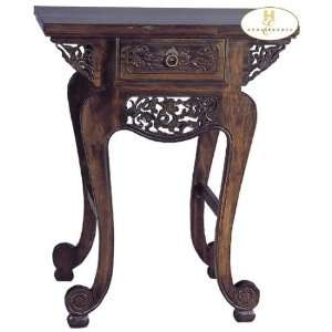 Asian Antique Style Solid Wood Flower Plant Stand Patio