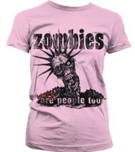 Zombies Were People Too Juniors Girls T shirt Funny Punk Zombie Horror