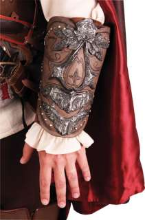 ASSASSINS CREED II Vambrace Brown Suede Leather Polyurethane Details
