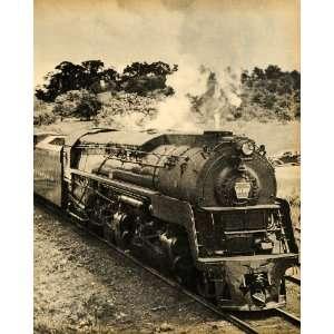 1945 Print Train Locomotive Railroad No. 6195 Pennsylvania Railroad