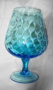 Art Glass Blue Large Brandy Sniffer
