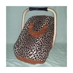 Infant Car Seat Carrier Fleece Cover   Leopard Baby