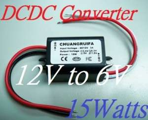 DC/DC Converter 12V Step down to 6V 15W Power Supply