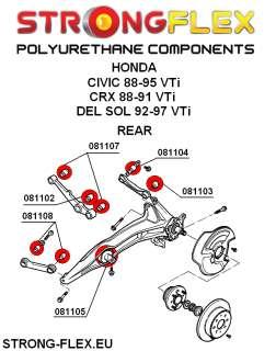 Honda Civic CRX Rear Stabilizer Bush KIT, NORMAL