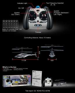 SYMA S018 Air Wolf 3 Channel Indoor Ready to Fly RC Remote Control