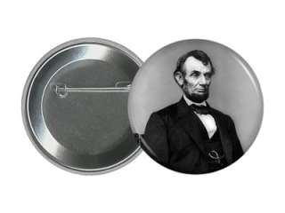 ABRAHAM LINCOLN 2.25 PIN 16th USA Civil War President Pinback Button