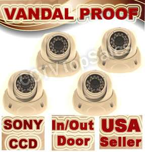 SONY CCTV Vandal Proof Dome CCD Water prool Camera