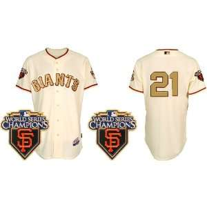 Wholesale New San Francisco Giants #21 Freddy Sanchez Cream & Gold