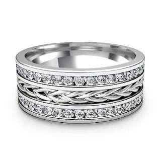 74ct Diamond Men Channel Wedding Band Ring Platinum s10 Man Solid