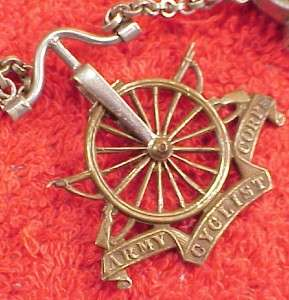 Vintage 18 Inch Bicycle Lamp Compass Pocket Watch Vest Chain Army