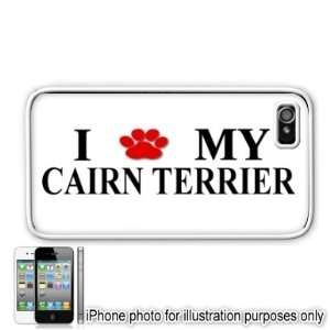 Cairn Terrier Paw Love Dog Apple iPhone 4 4S Case Cover White