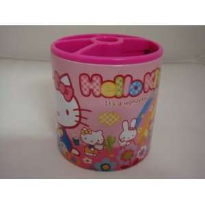 Sanrio Pink Wonderful Day Hello Kitty Pen Case Brush Pot