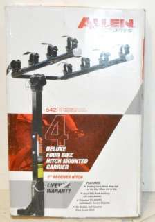 ALLEN SPORTS 4 BIKE DELUXE HITCH MOUNTED BICYCLE CARRIER RACK 542RR