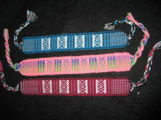 THREE Mexican Woven Bookmarkers OR Friendship Bracelets XMAS Stocking