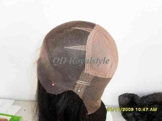 16human hair full lace wigs,remy indian black or brown silky straight