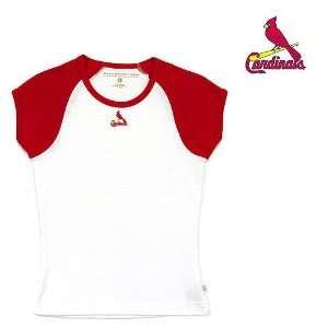 St. Louis Cardinals MLB Girls Mini Star Top (Dark Red