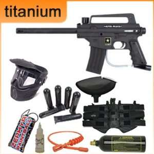 Tippmann US Army Alpha Titanium Paintball Gun Package   Black w/ E