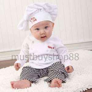 Baby Boy Mini Chef Costume Outfits Top Pants Hat 3 15 months