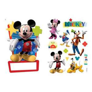 MICKEY MOUSE NAME PLATE WALL STICKERS NEW OFFICIAL