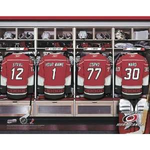 Personalized Carolina Hurricanes Locker Room Print Sports