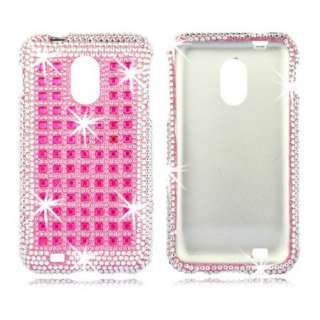 PINK Pattern JEWEL Rhinestone DIAMOND Case for Samsung EPIC 4G TOUCH