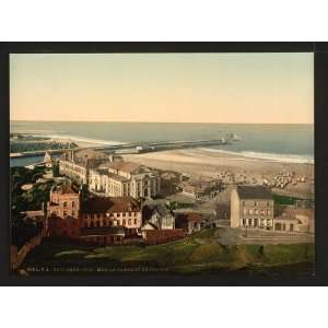 Beach and casino,Boulogne sur Mer, France,c1895: Home