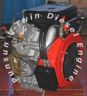 FACTORY DIRECT PUNSUN VT836 18 HP V TWIN DIESEL ENGINE!