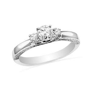 14kt White Gold Engagement Ring (1.00 Ct) (7.00) Jewelry