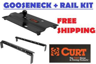 CURT BENT PLATE GOOSENECK TRAILER TOW HITCH WITH RAILS