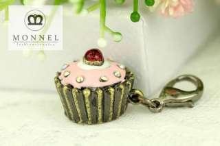 J179 Cute Birthday Cupcake Charm Pendant (1 piece)