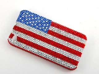 American Flag Banner Patriotic iPhone 4S 4 Case Cover Swarovski