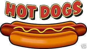Hot Dogs Concession Decal 10 Food Restaurant Menu