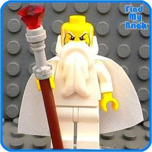 C378 Lego Castle Greek God Zeus Custom Minifigure or Wizard Saruman