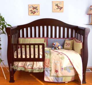 SOLID WOOD CHERRY CONVERTIBLE BABY CRIB TODDLER RAIL INCLUDED