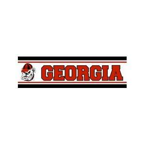 NCAA Georgia Bulldogs 5.25 Wallpaper Border:  Sports