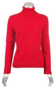 Sutton Studio Womens 100% Pure Cashmere Turtleneck Sweater Petite