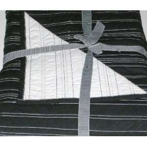 Black & White Striped Quilt King Bed Quilted Comforter